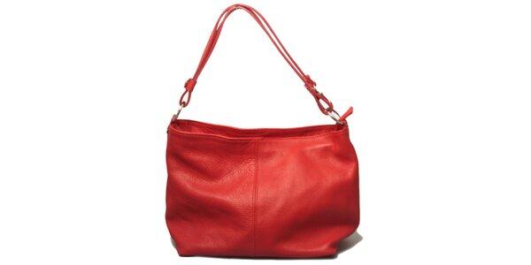 Dámská červená kabelka s jedním uchem Leonardo Farnesi