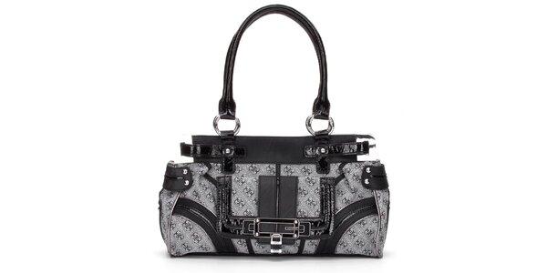 Dámská šedo-černá kabelka Guess