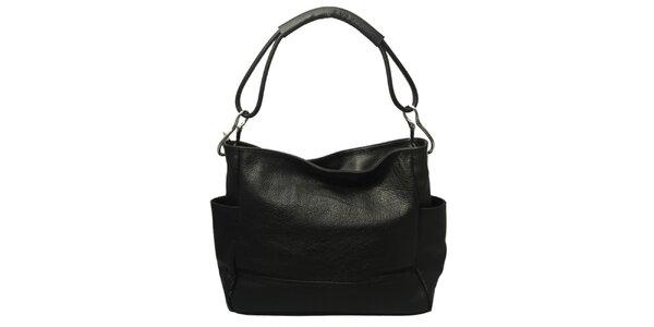 Dámská černá kabelka s jedním popruhem Leonardo Farnesi
