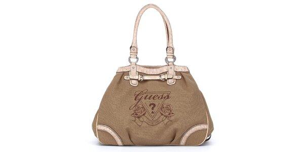 Dámská hnědo-béžová kabelka Guess