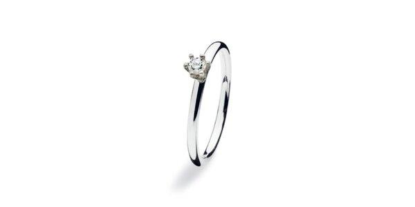 Dámský prstýnek s kamínkem Spinning