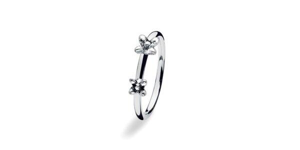Dámský prstýnek s kytičkami Spinning