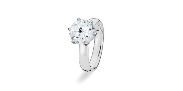 Dámský prstýnek s velikým kamínkem Spinning