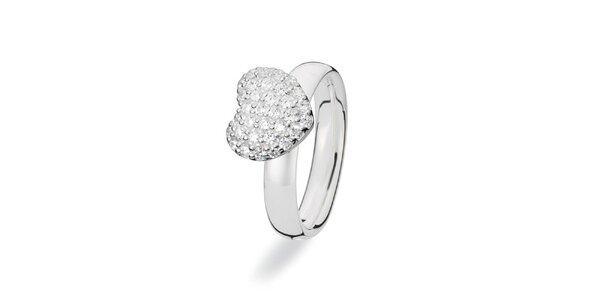 Dámský prstýnek s velikým srdcem Spinning
