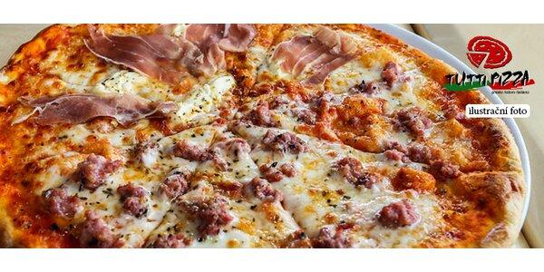 Slevový voucher na mega pizzu (45 cm) s sebou