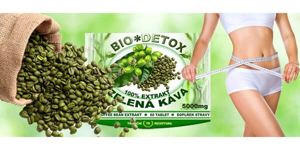 Zeštíhlovací tablety s extraktem ze zelené kávy