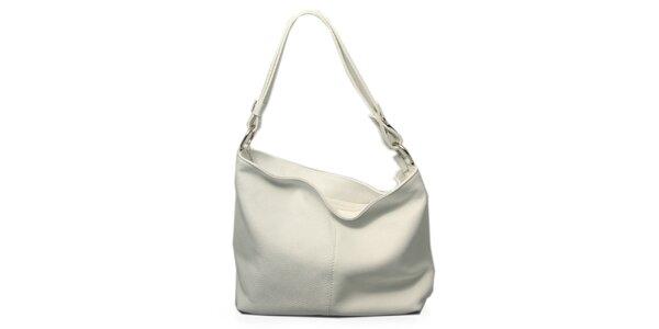 Dámská bílá kabelka s jedním uchem Leonardo Farnesi