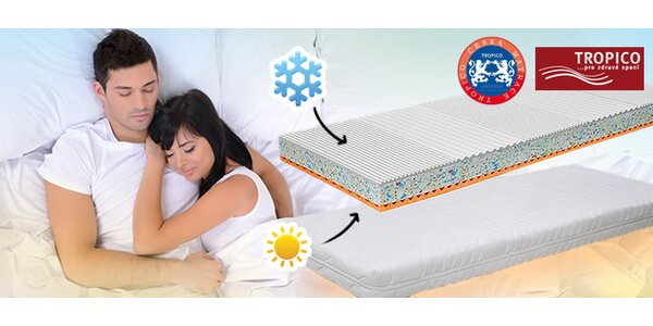 Doprodej matrace Tropico Henrieta. Při koupi jednolůžka druhá matrace zdarma!