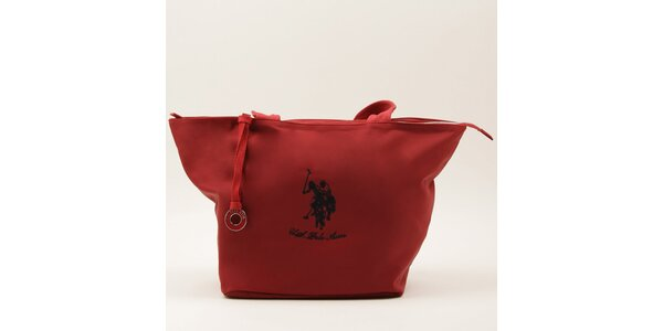 Dámská velká červená kabelka se dvěma uchy U.S. Polo