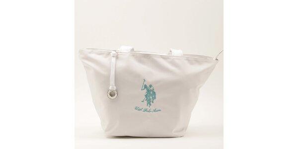 Dámská velká bílá kabelka se dvěma uchy U.S. Polo
