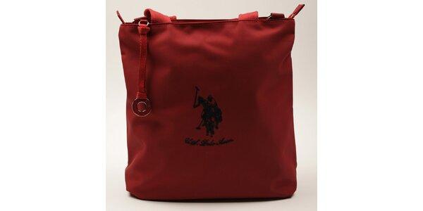 Dámská obdélníková červená kabelka U.S. Polo