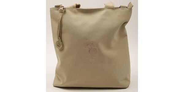 Dámská obdélníková béžová kabelka U.S. Polo