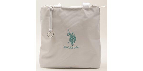 Dámská obdélníková bílá kabelka U.S. Polo