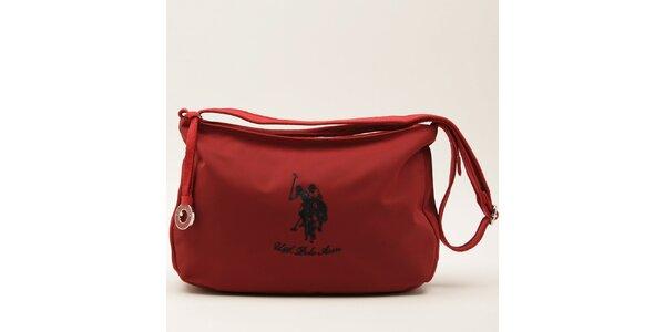 Dámská červená kabelka s jedním uchem U.S. Polo