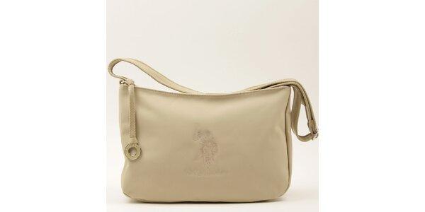Dámská béžová kabelka s popruhem U.S. Polo