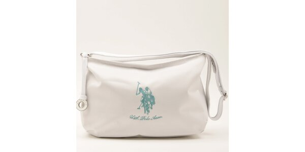 Dámská bílá kabelka s popruhem U.S. Polo