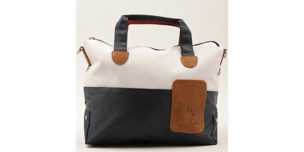 Dámská dvoubarevná kabelka s červeným uchem U.S. Polo