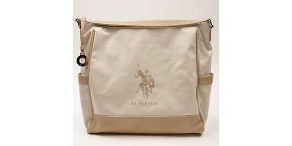 Dámská kabelka s béžovými lemy U.S. Polo