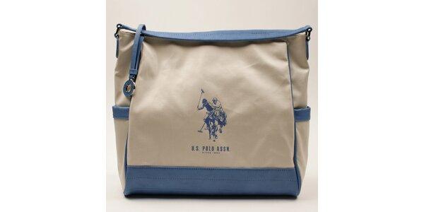 Dámská kabelka s modrými lemy U.S. Polo