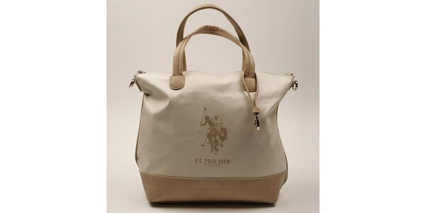 Dámská kabelka s béžovými uchy U.S. Polo