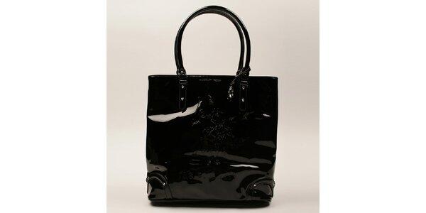 Dámská černá lesklá kabelka U.S. Polo