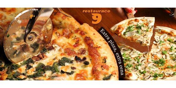 Libovolná pizza ve stylové restauraci 9evítka