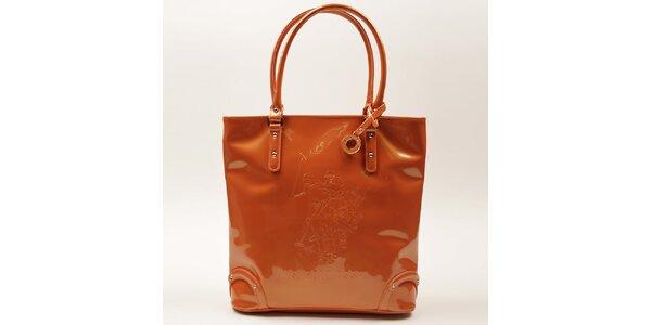 Dámská oranžová lesklá kabelka U.S. Polo
