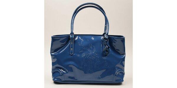 Dámská modrá lesklá podlouhlá kabelka U.S. Polo