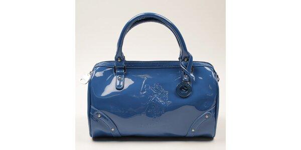 Dámská modrá lesklá zaoblená kabelka U.S. Polo