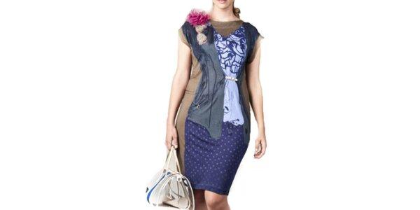 Dámské barevné šaty s ozdobami Coquette