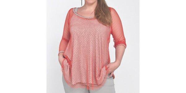 Dámské dvouvrstvé síťované tričko Coquette