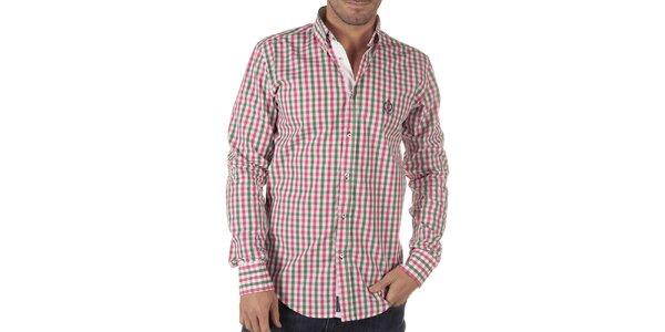 Pánská vícebarevná košile s kostkovaným vzorem CLK