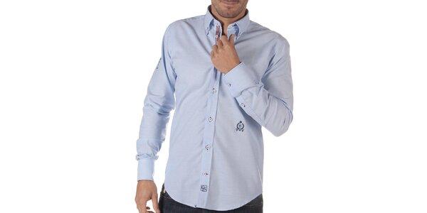 Pánská světle modrá košile s výšivkou CLK
