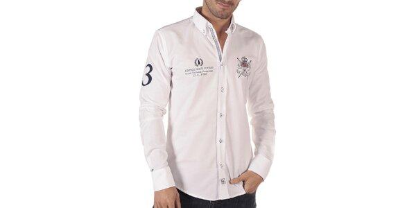 Pánská volnočasová košile v bílé barvě CLK