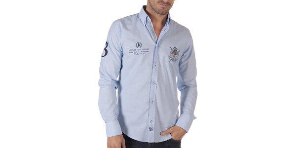Pánská volnočasová košile ve světle modré barvě CLK