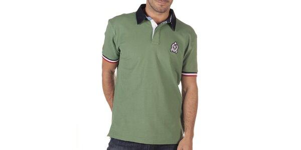 Pánské olivově zelené polo tričko CLK