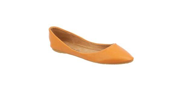 Dámské oranžovožluté balerínky Betsy