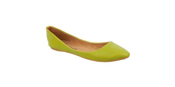 Dámské limetkově zelené balerínky Betsy