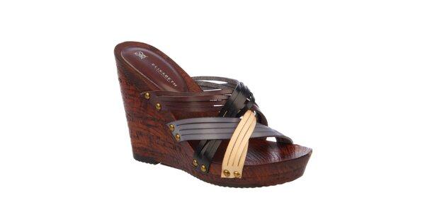 Dámské páskové sandálky na klínku Elisabeth