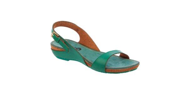 Dámské zelené nízké sandálky Betsy