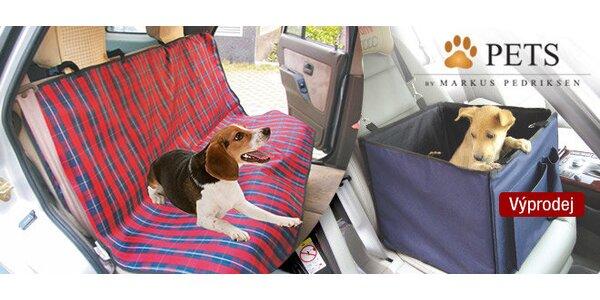 Výprodej! Doplňky do auta pro komfortní přepravu pejsků