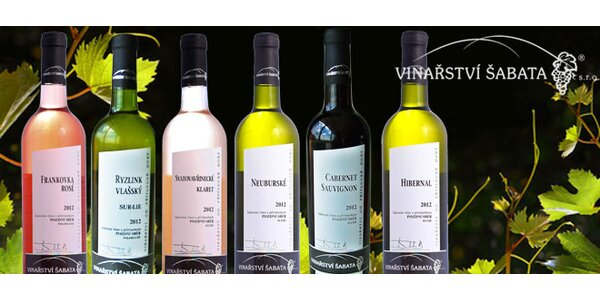 Kolekce 6 moravských vín z pozdního sběru