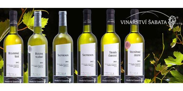 6 vín z Vinařství Šabata s přívlastkem výběr z hroznů