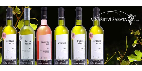 6 šampionů aneb To nejlepší z vinařství Šabata