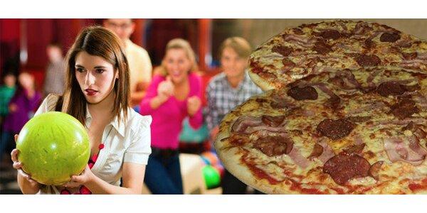 Bowling až pro 8 osob a výborná pizza