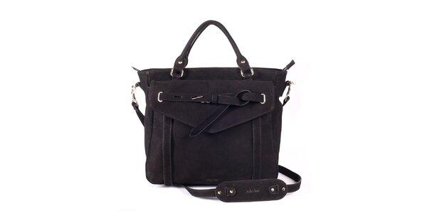 Dámská černá kabelka s ozdobným páskem Kate Lee