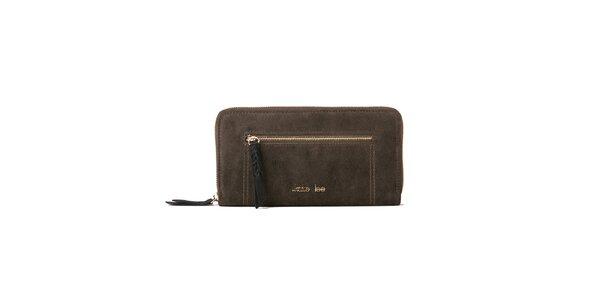 Dámská khaki peněženka se zipovou kapsičkou Kate Lee
