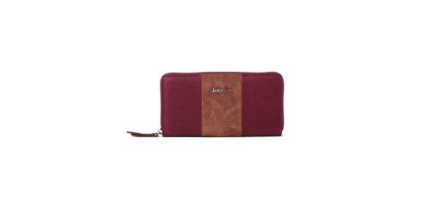Dámská vínová peněženka Kate Lee