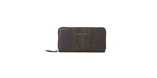 Dámská šedo-khaki peněženka Kate Lee
