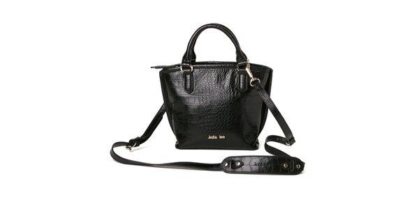 Dámská černá kabelka se vzorem krokodýlí kůže Kate Lee